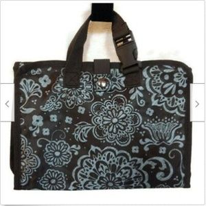 Thirty One Woodblock Floral travel roll up case